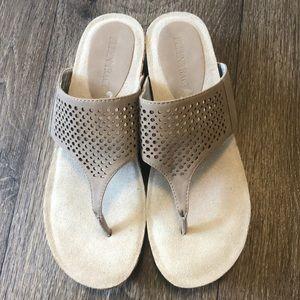 Ellen Tracy Cork Platform Sandals